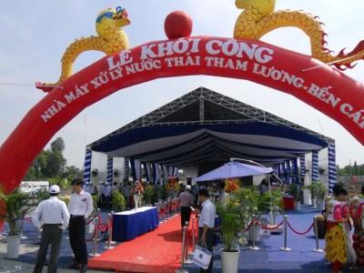 Xây nhà máy xử lý nước thải Tham Lương – Bến Cát